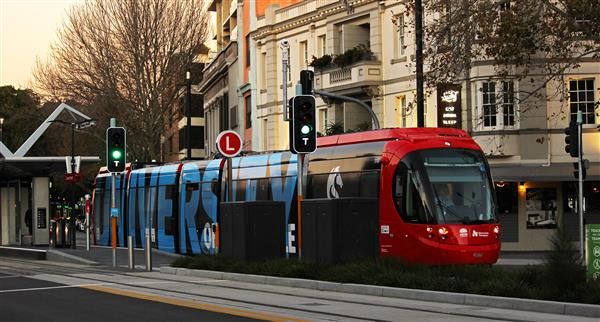 Tram with Light Rail Lights